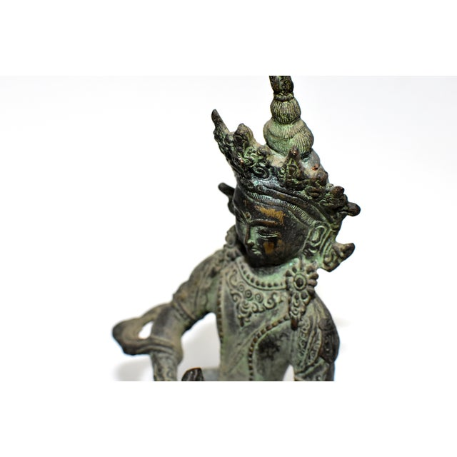 Early 19th Century Bronze Tibetan Couple Statue Vajrasattva Yab Yum Early 19th Century For Sale - Image 5 of 13
