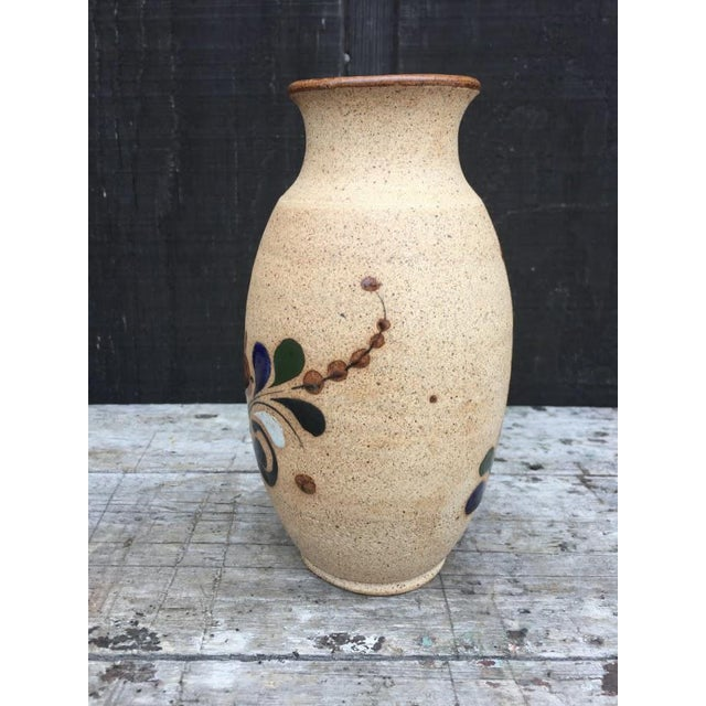 Hand Painted Bird Vase For Sale - Image 4 of 9
