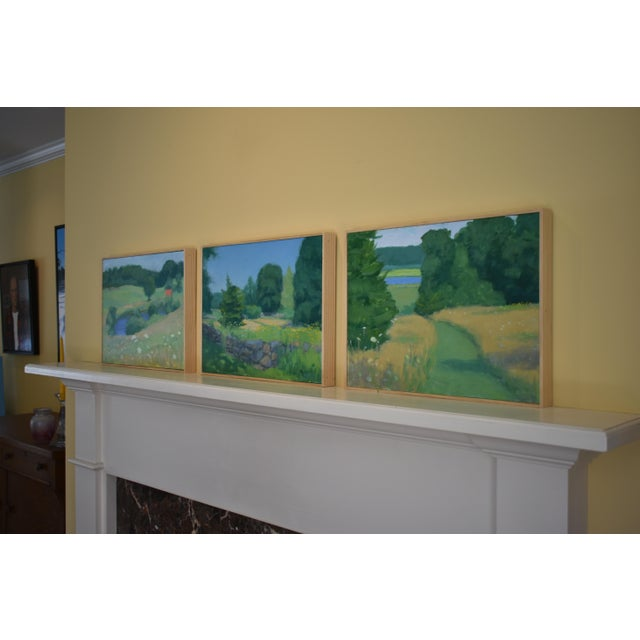 Pastoral Plein Air Contemporary Paintings by Stephen Remick - Set of 3 For Sale - Image 12 of 13