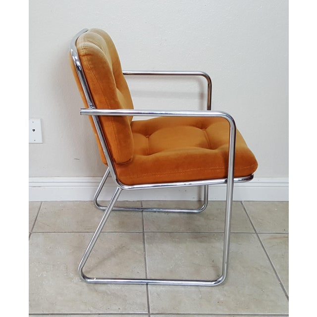 Chrome Vintage 1970s Mid Century Modern ChromeCraft Corp Chairs - Set of 3 For Sale - Image 7 of 13