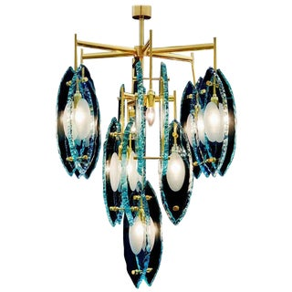 Etched Chandelier by Fabio Ltd For Sale