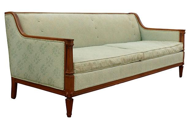 Captivating 1960u0027s Sofa By Nelson With A Wood Frame With Tight Back And Loose Cushion.  Fluted