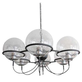 RAAK Saturnus 6 Globe Chandelier For Sale