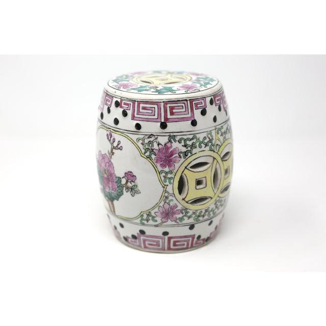 Asian Miniature Ceramic Garden Stool Figurine For Sale - Image 3 of 13