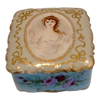 19th Century Limoges Jewel Box For Sale