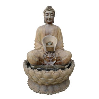 Sitting Lotus Buddha Fountain For Sale