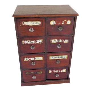 1920's Apothecary 8 Drawer Chest For Sale