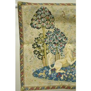 Jacquard Medieval Lady and the Unicorn French Wall Hanging Tapestry Preview
