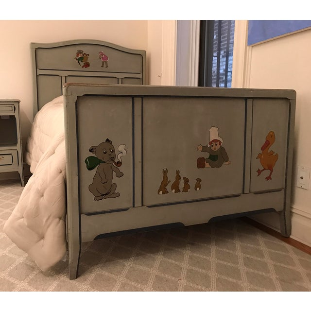 Beautiful, unique children's bed. French, antique, hand-painted in its gorgeous original state. Please see my other...