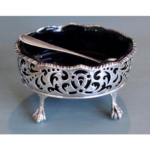 18th Century English George III Period Sterling Salt Cellars - A Pair - Image 2 of 11