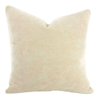 Chella Textiles Montecatini Sand Dune Light Tan Chenille Pillow Cover For Sale