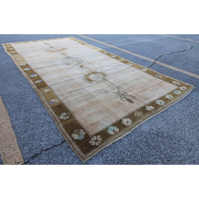 """Islamic Vintage Hand Knotted Turkish Oushak Rug - 5'10"""" X 11'10"""" For Sale - Image 3 of 6"""