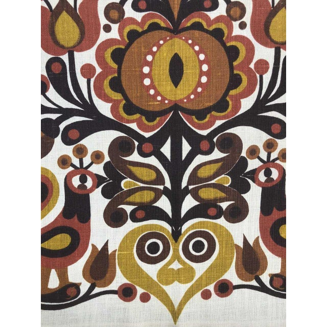 1960s Södahl/Sodahl Denmark Peacock and Floral Wall Tapestry For Sale - Image 5 of 12