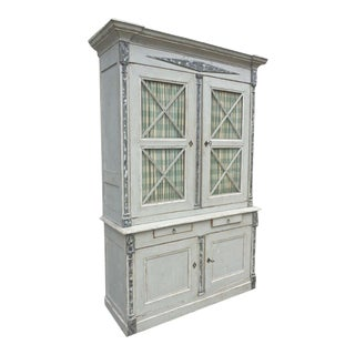 Faux Marble Armoire For Sale