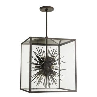 Arteriors Industrial Modern Indoor/Outdoor Metal Zanadoo Pendant Light For Sale