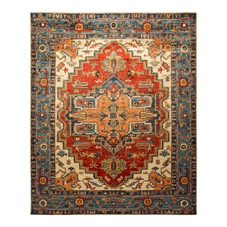 One-Of-A-Kind Oriental Serapi Hand-Knotted Area Rug, Regal, 7' 8 X 9' 8 For Sale