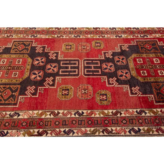 """1960s Apadana - Vintage North West Persian Rug, 4'7"""" X 11'3"""" For Sale - Image 5 of 9"""