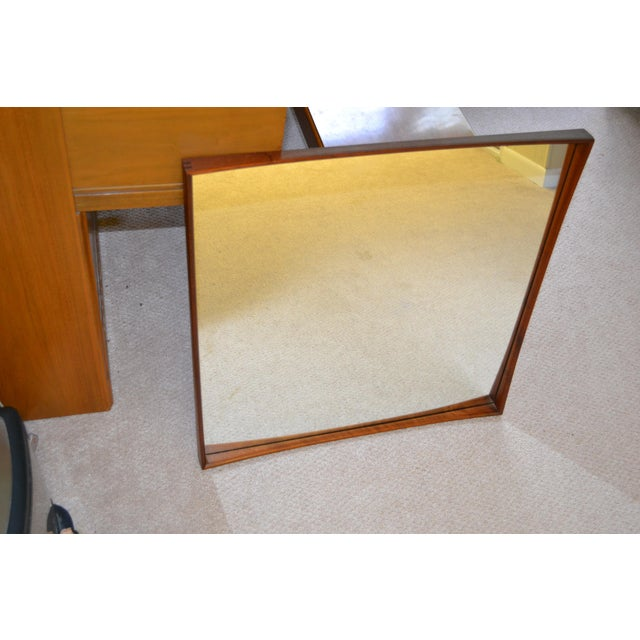 Danish Modern Vintage TH Poss EFTF Danish Mirror For Sale - Image 3 of 4