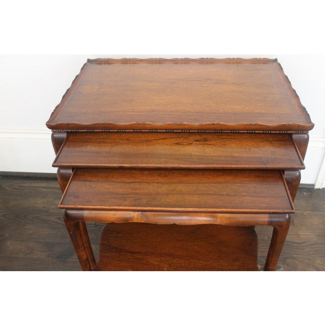 English 19th Century English Nesting Tables - Set of 3 For Sale - Image 3 of 13