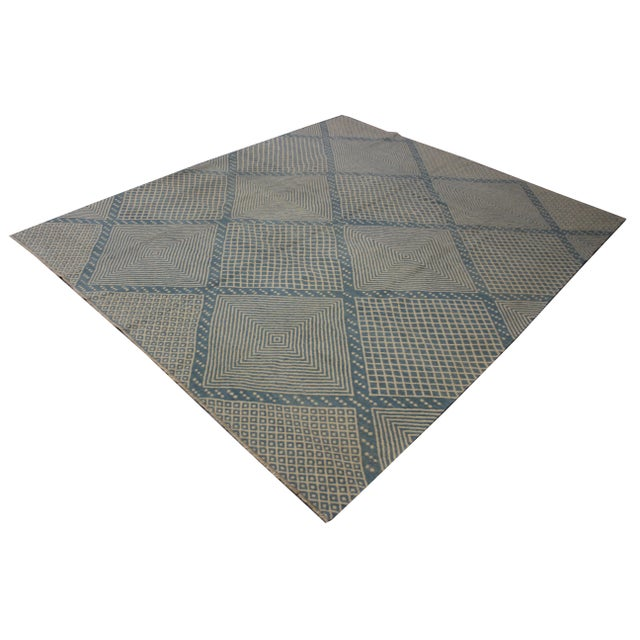 """Modern Aara Rugs Inc. Hand Knotted Modern Kilim - 9'5"""" X 8'4"""" For Sale - Image 3 of 6"""