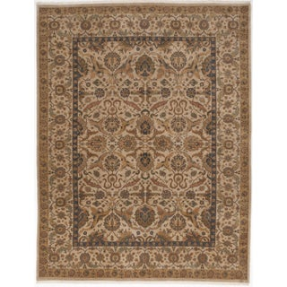 """Indo-Persian Hand-Knotted Rug - 9'2"""" x 12' For Sale"""