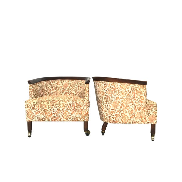 Mid Century Tomlinson Style Barrel Back Club Chairs- A Pair For Sale - Image 10 of 10