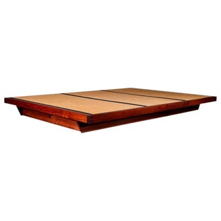 George Nakashima Black Walnut and Woven Grass Tea Ceremony Platform