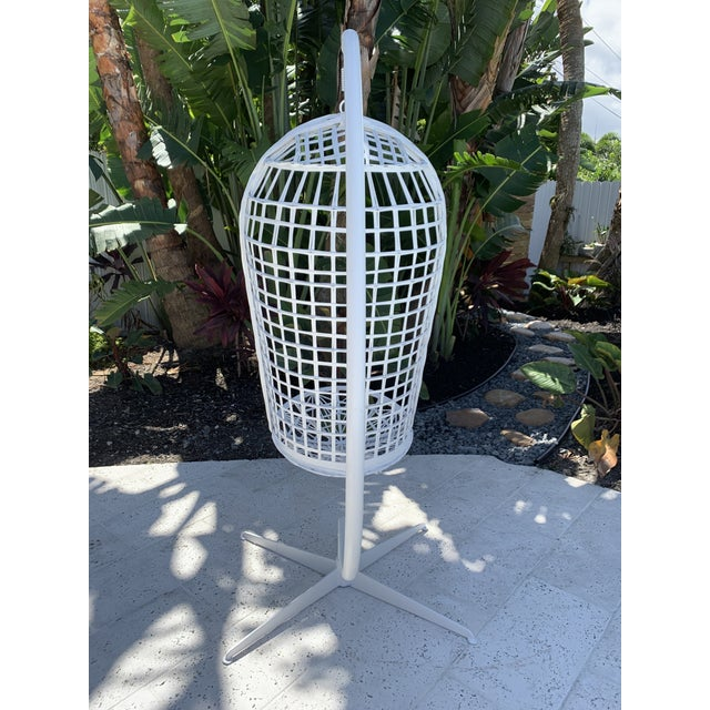 Mid-Century Modern Vintage Russell Woodard Hanging Birdcage Swing For Sale - Image 3 of 13
