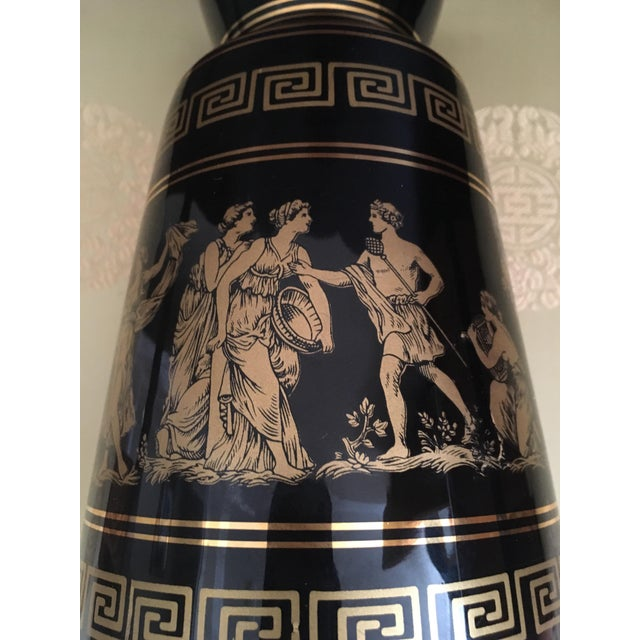 Vintage Greek Gods 24k Gold Vase For Sale - Image 10 of 11