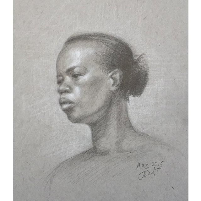 This is an original sketch of an African-American woman. It's done by me, from life at the Art Student League of New York...