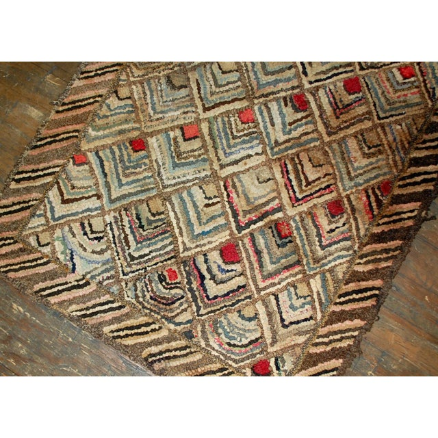 Country 1900s Handmade Antique American Hooked Rug - 2' X 3' For Sale - Image 3 of 5