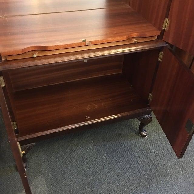 Flame Mahogany Bar Cabinet - Image 6 of 11