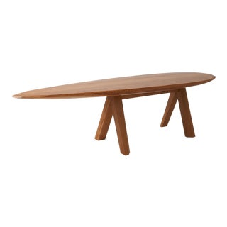 Large Dining Table in Oak by Kaspar Hamacher For Sale
