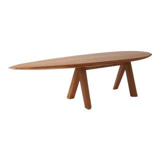 Large Dining Table in Oak by Kaspar Hamacher For Sale
