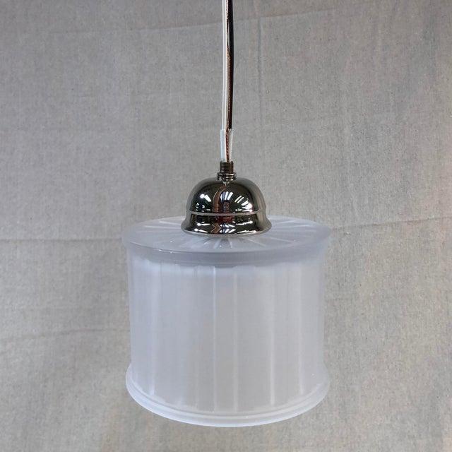 White Minka-Laverty 1-Light Polished Nickel Mini Pendant Ceiling Light For Sale - Image 8 of 8
