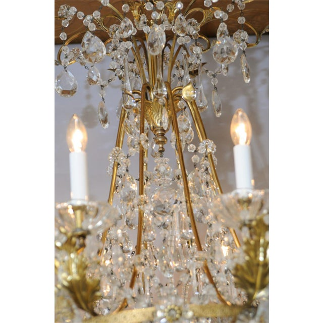 Early 20th Century Fine German Eight-Light Bronze Chandelier For Sale - Image 5 of 10