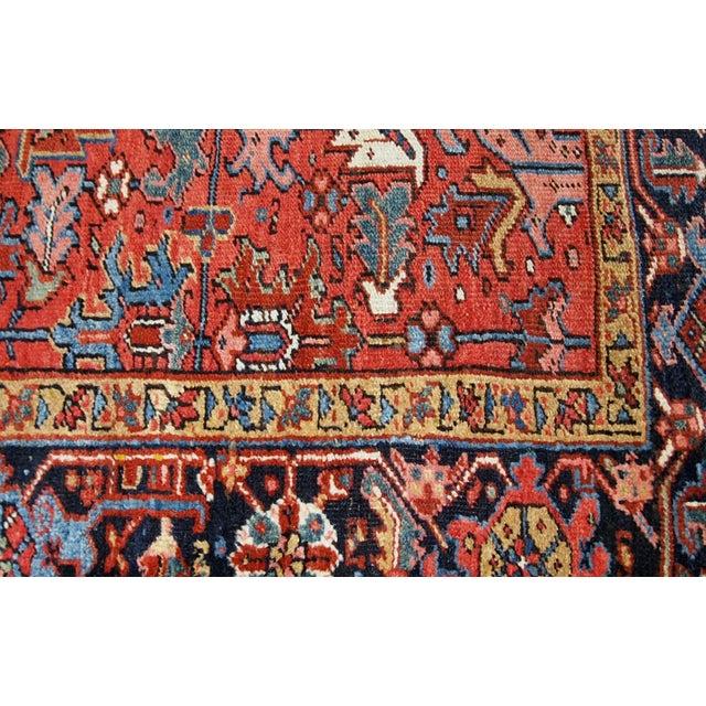 1900s, Handmade Antique Persian Heriz Rug For Sale - Image 9 of 12