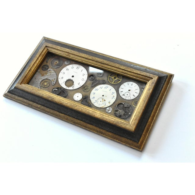 Mid-Century Modern Mid-Century Lee Waterman Pocket Watch Collage For Sale - Image 3 of 7