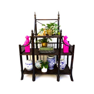 Antique Bamboo Etagere | Entry Table | Display Storage Table Preview