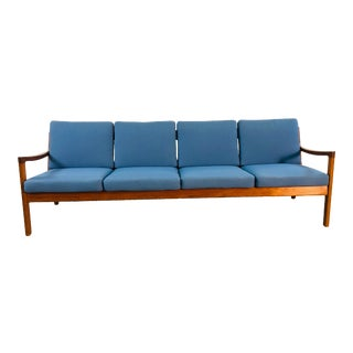 Ole Wanscher for France & Sons Denmark Teak 4 Seat Sofa For Sale