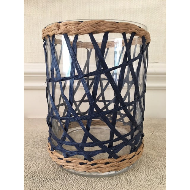 Amanda Lindroth Rattan Covered Hurricane For Sale In New York - Image 6 of 6