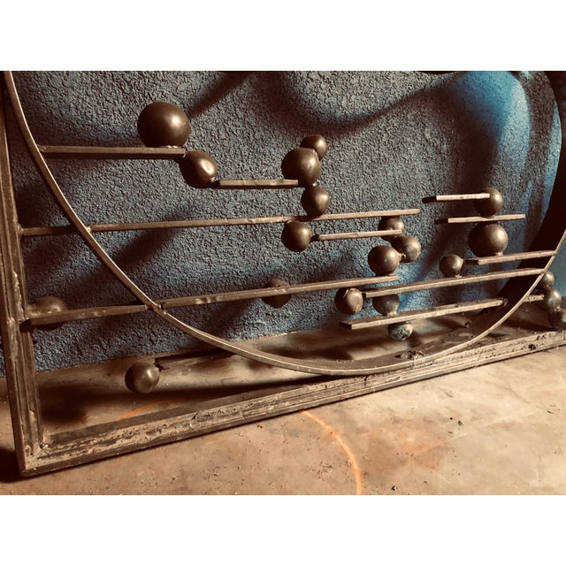 Antique Handcrafted Bronzed Iron Art Deco Panel For Sale In Sacramento - Image 6 of 10