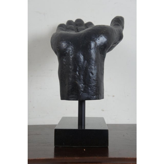 Global Views Cast Iron Open & Pointing Hand Sculptures - A Pair For Sale - Image 10 of 13