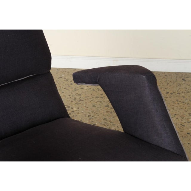 A Pair of George Jetson Style Upholstered Club Chairs For Sale - Image 4 of 7