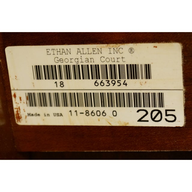 Ethan Allen Georgian Court End Table For Sale - Image 10 of 11