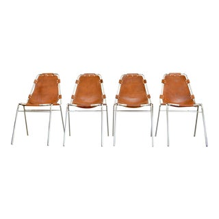 Charlotte Perriand - Les Arcs Chairs - Cognac For Sale