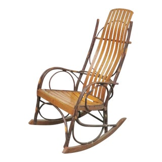 Adirondack Oak Bentwood Rocker For Sale