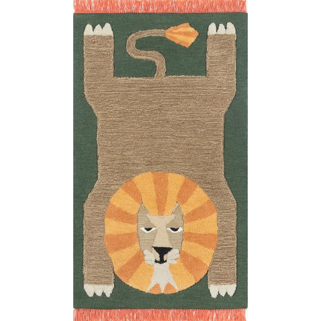 Textile Novogratz by Momeni Atticus Leon in Green Rug - 5'X7' For Sale - Image 7 of 7
