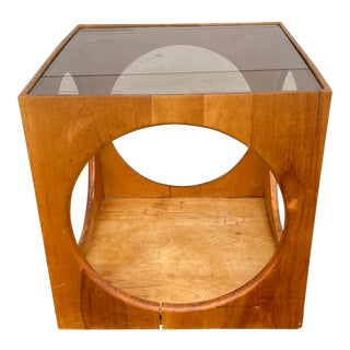 Lane Cube Table With Circle Cutouts For Sale