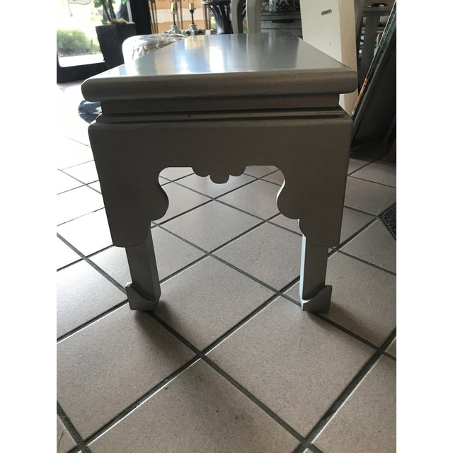 Painted Silver Rectangular Cocktail Table For Sale - Image 4 of 7